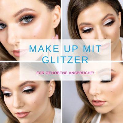 Make up mit Glitzer