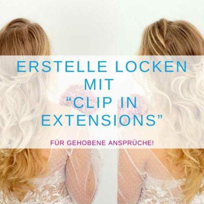 """Erstelle Locken mit """"Clip in Extensions."""""""
